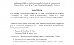 COMUNICADO OFICIAL SUSPENSION